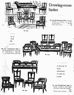 Picture of Drawing room suites from the F. Tritton Furniture Catalogue, Brisbane, circa 1906