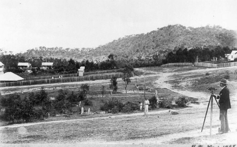 Surveying the Cairns-Herberton Railway, 1888.