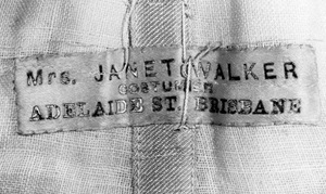 Detail from Janet Walker label