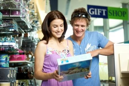 Couple in gift shop